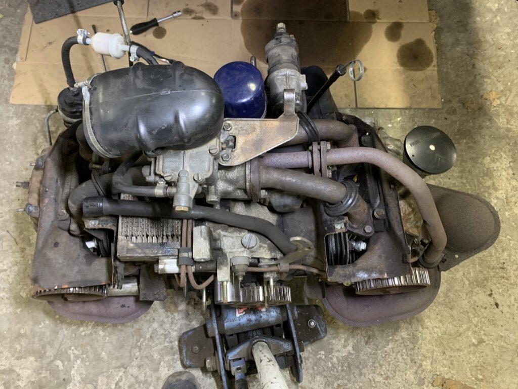 Citroen GS 1015cc engine out for renovation