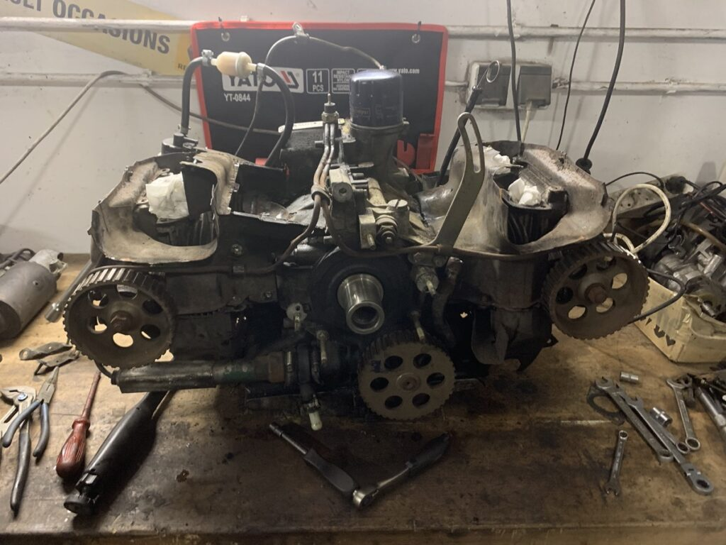 Citroen GS engine on the work bench